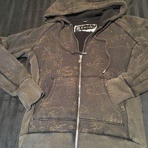 Oakley zip up hoodie